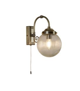 Seinävalaisin BELVUE Antique Brass IP44 3259AB
