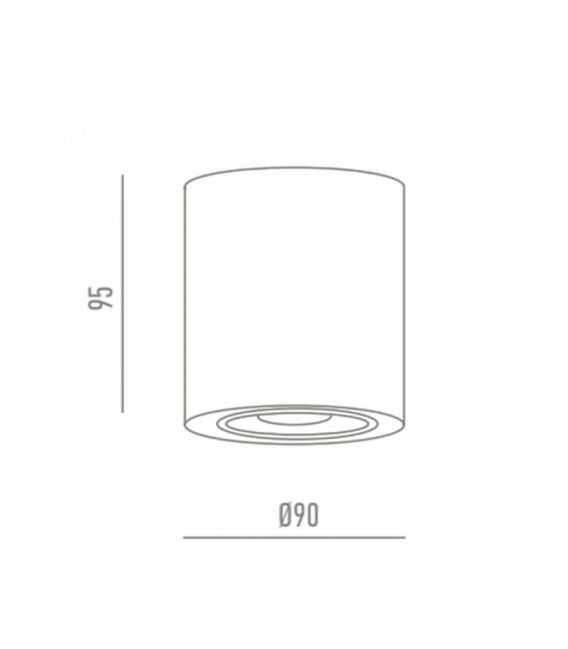 Lubinis šviestuvas JAXON White Ø7,5