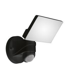 13W LED Seinävalaisin PAGINO liiketunnistimella Black IP44 98178