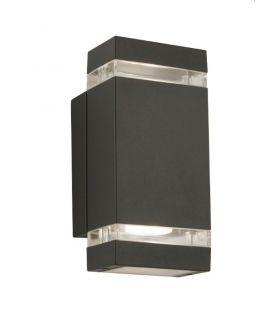 Seinävalaisin OUTDOOR IP44 1002-2GY-LED