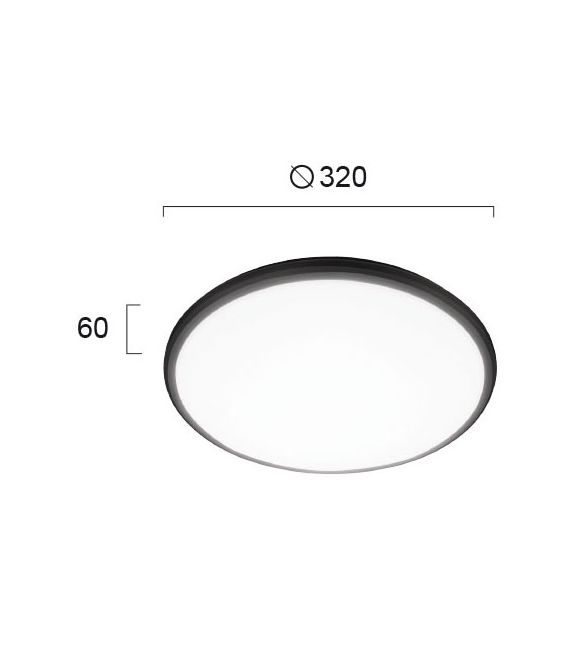 24W LED Lubinis šviestuvas RONI IP54 4243000