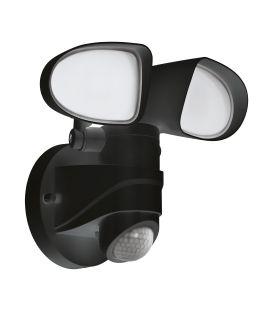 12W LED Seinävalaisin liiketunnistin PAGINO Black IP44 98176