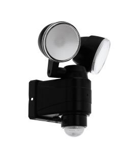7.5W LED Seinävalaisin liiketunnistin CASABAS Black IP44 98189