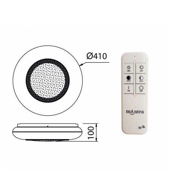 24W LED Lubinis šviestuvas NAXOS Ø40 Dimeriuojamas 6450