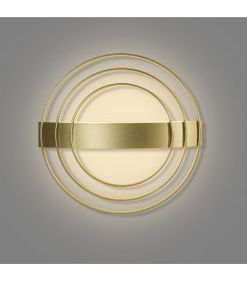 12.5W LED Seinävalaisin RINGO Gold Ø35.5 A38130O