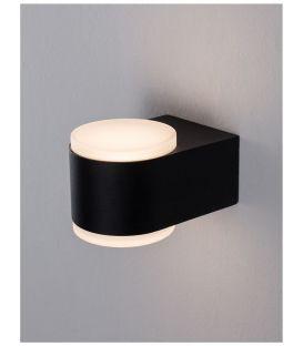 8W LED Sieninis šviestuvas NUS Black IP54 9200202