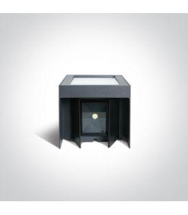 12W LED Seinävalaisin DAVOS Dark Grey IP54 6520