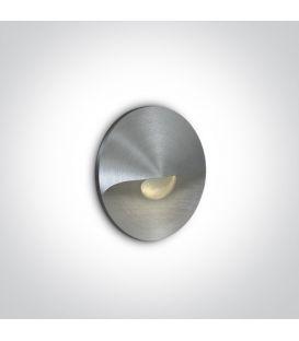 1W LED Alasvalo Aluminium 3000K 68070A/AL/W