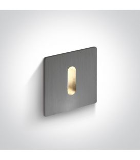 1W LED Alasvalo Aluminium 3000K 68004B/AL/W