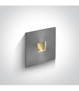 1W LED Alasvalo IP54 Aluminium 3000K 68004A/AL/W