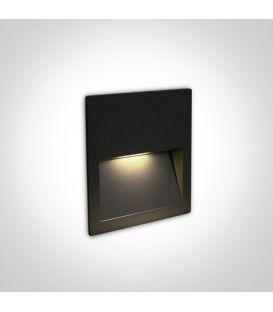 4W LED Alasvalo Black IP65 3000K 68068A/B/W
