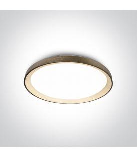 48W LED Kattovalaisin Brushed Brass Ø58 62148L/BBS/W
