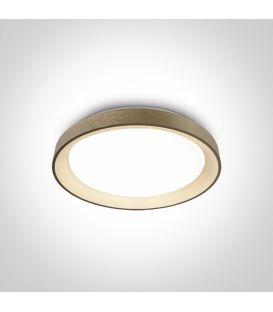 30W LED Kattovalaisin Brushed Brass Ø37.5 62130L/BBS/W