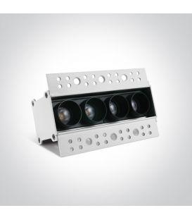 3W LED Įmontuojamas šviestuvas Black 50103ATR/B/W