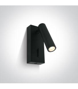 3W LED Seinävalaisin READING Black 65746/B/W
