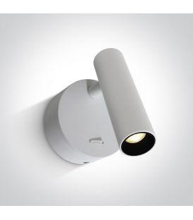 3W LED Seinävalaisin READING White 65738/W/W