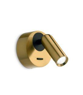 3.5W LED Seinävalaisin BEAN ROUND AP Brass 260624