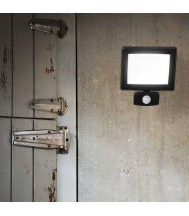 20W LED Sieninis šviestuvas FLOOD Sensor Black IP65 269092