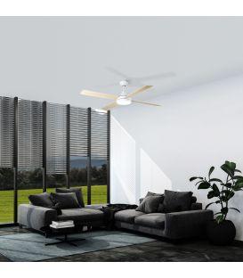 18W LED Šviestuvas su ventiliatoriumi ANTIBES Black 35017